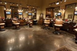 Oversized Barber Chairs and Masculine, Country Club Type Environment Available at The Gents Place