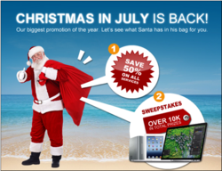 Christmas in July - Save 50% off