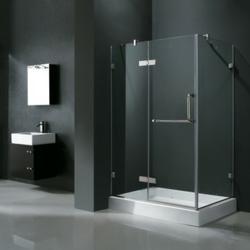 Vigo Frameless Shower Vanity Set Bath