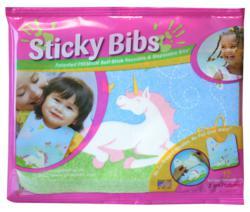 Sticky Bibs, Girls Self Stick Bibs 12 Pack