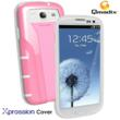 Xpression Cover for Samsung Galaxy SIII Pink/White