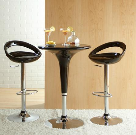 Clyde adjustable table and agnes bar stools by eurostyle crescent bar