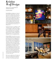 Bay Area Interior Design Firm Kristina Wolf Featured In Luxury Home Quarterly