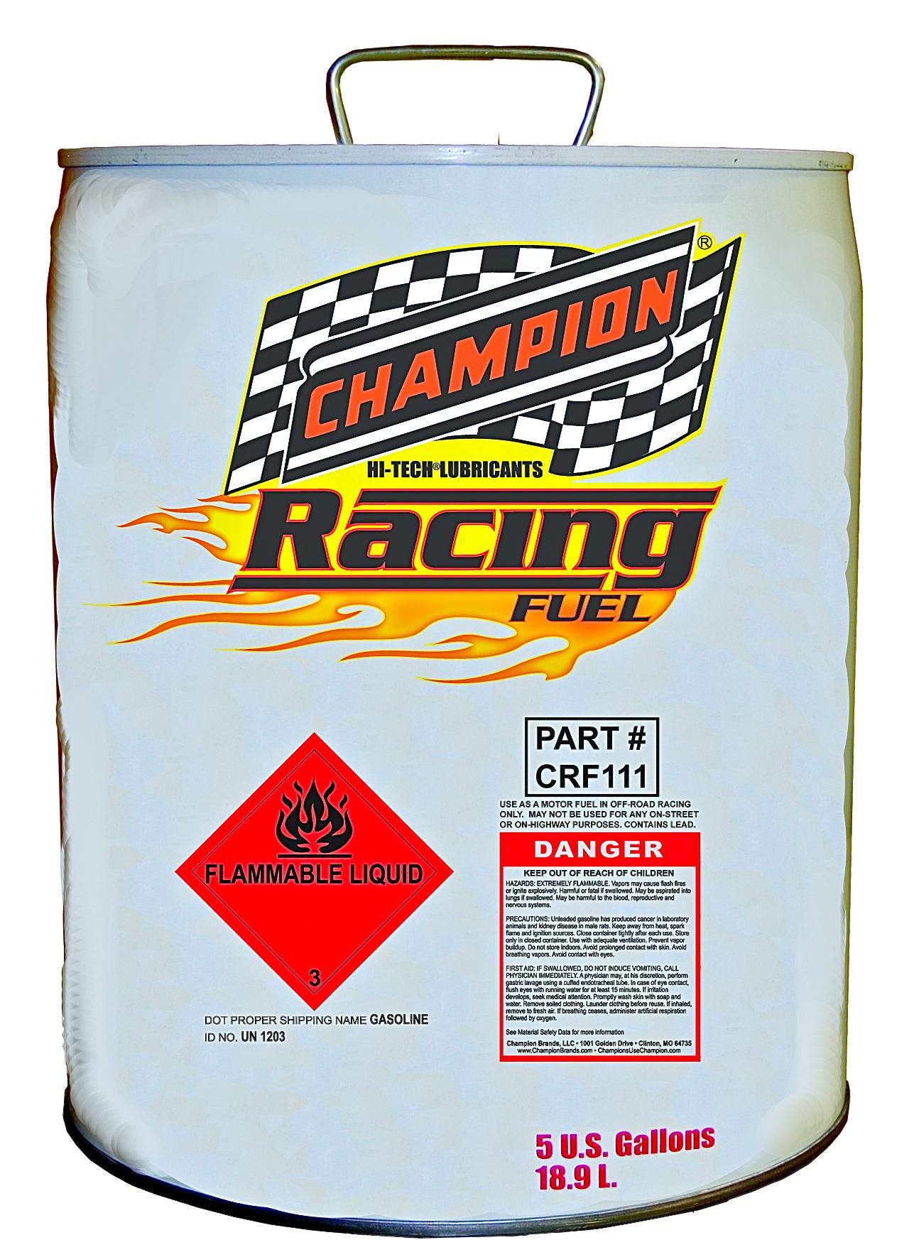 champion oil introduces pure methanol race fuel. Black Bedroom Furniture Sets. Home Design Ideas