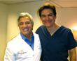 Dr. Gerry Curatola on set with Dr. Mehmet Oz