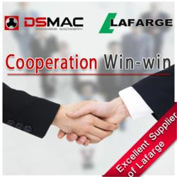 For DSMAC, the long-term cooperation with Lafarge Group is essential for continued success in the cement industry.