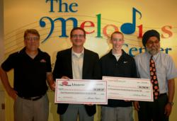 SportsSignup Online Sports Registration presents donation check to Melodies Center