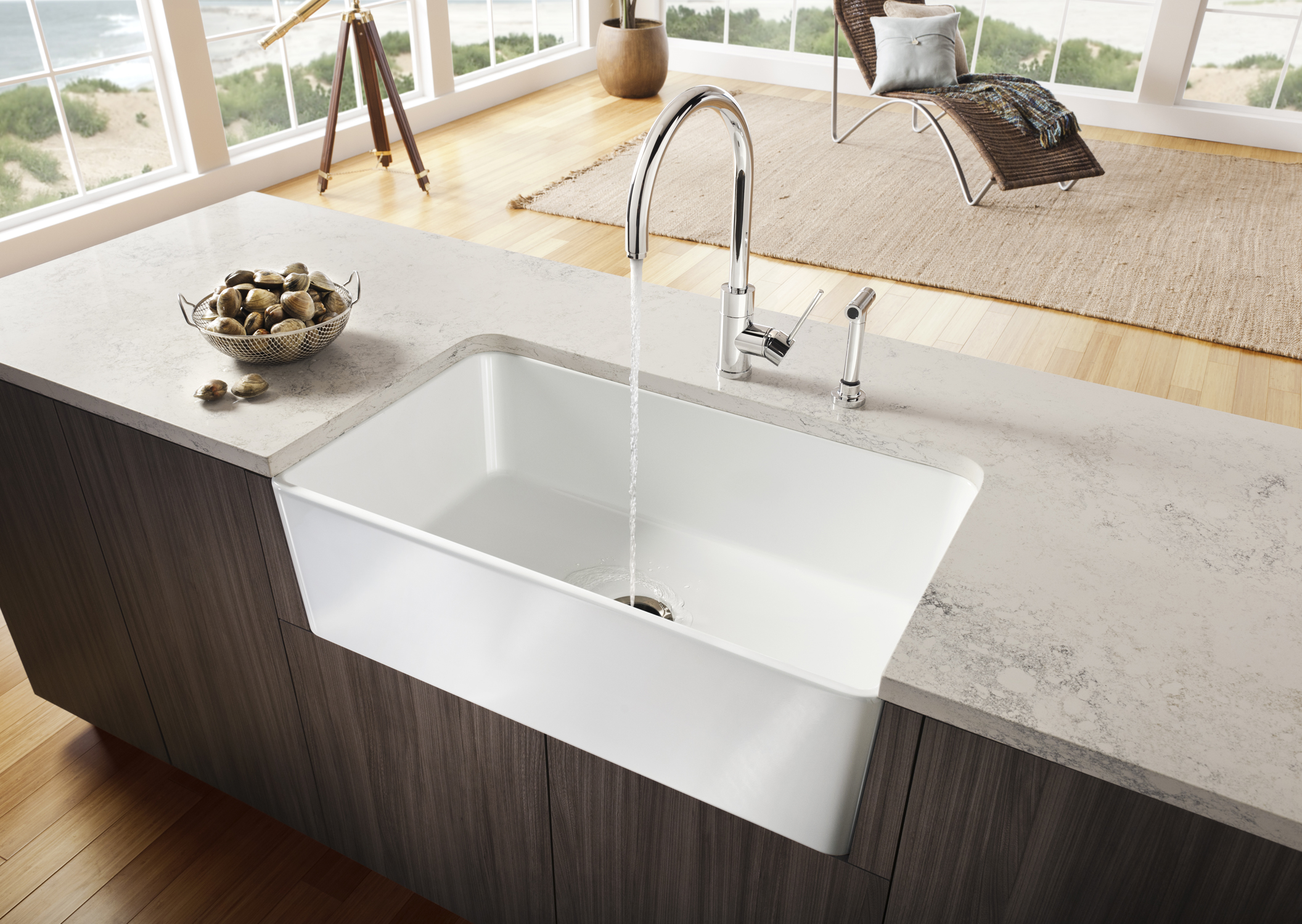 Blanco introduces the cerana apron front kitchen sink for Blancoamerica com kitchen sinks