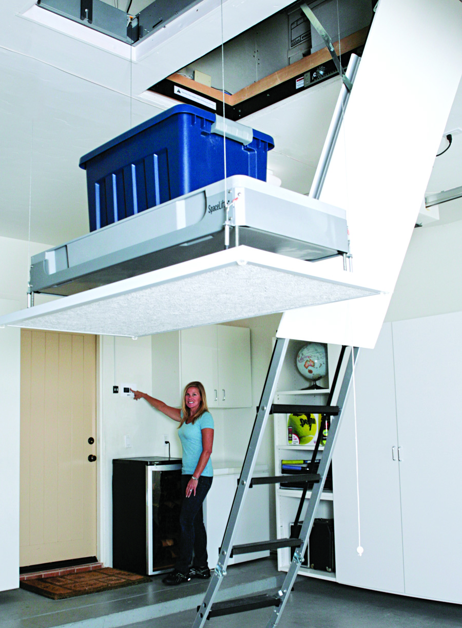 New Spacelift 174 Attic Lift System Makes West Coast Debut At