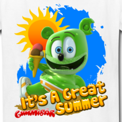 Gummibar: It's A Great Summer T-Shirt Design