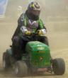"Lawn mower racer Jim Keech, ""Kemowsod,"" will be honored at the annual Jim Keech Memorial Race for Huntington's Disease Research in Sparta, Michigan."