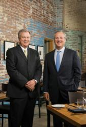 Owner and CEO Jack Lewis, left and President Andy Wueste, right at the Mission Restaurant Supply Test Kitchen.