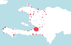 Geographical distribution of job seekers in Haiti
