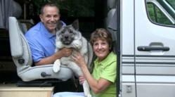 FMCA's new on-the-road reporter Mike Wendland travels with his wife, Jennifer, and their Norwegian elkhound, Tai.