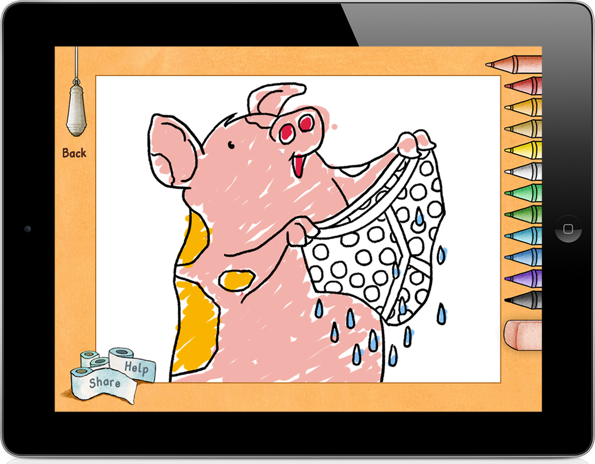 Colouring in on ipad - Award Winning Children S Book Who S In The Loo Debuts On Tablets And Mobileswho S In The Loo Ipad Screenshot Colouring Exercise
