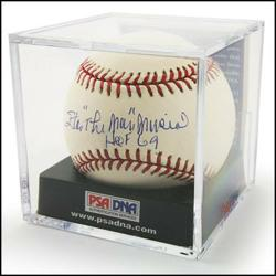The PSA/DNA verified and graded baseball being auctioned on PoliceAuctions.com.  PoliceAuctions.com is known for their listing of police auctions and government auctions.