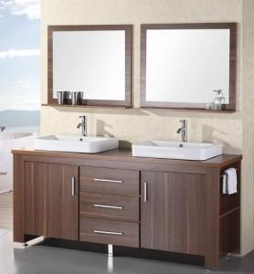double sink bathroom vanities. silkroad 48 inch double sink