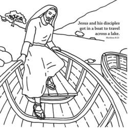 Jesus Calms the Storm Origami Craft Card Helps Children Learn the