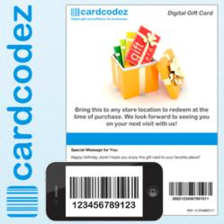 CardCodez.com virtual gift card software for businesses