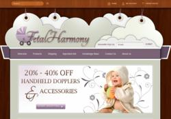 FetalHarmony's redesigned website.