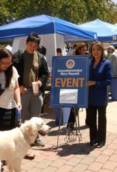 Assemblymember Mary Hayashi at the Pet Health and Safety Fair in Hayward
