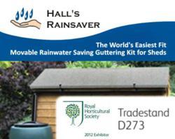 Hall's Rainsaver, Versatile Shed Guttering for Rain Harvesting