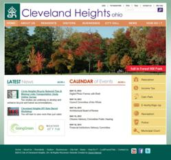 City of Cleveland Heights website powered by Vision Internet
