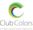 New Club Colors logo and tagline in vertical format
