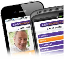 HealthExpress UK mobile site