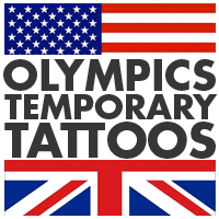 Summer Olympics temporary tattoos