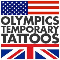 Summer Olympics temporary tattoos