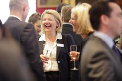 Guests enjoying the champagne reception