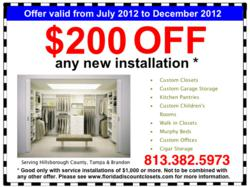 Florida Discount Closets custom closets and organizational systems