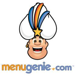 Logo for Menugenie.com, an online ordering service for takeout and delivery