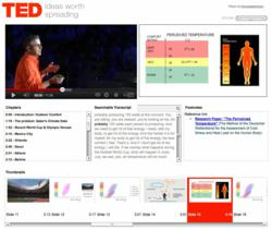 KnowledgeVision for YouTube online presentation demo: TED Talk enhancement