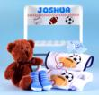Personalized Step Stool Baby Boy Gift with accessories