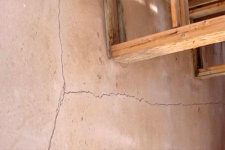 interior foundation cracking excessive bending causes cracking cracks