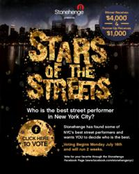 Stars of the Streets Contest Hosted by Stonehenge NYC