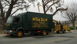 Tom Day Tree Service Chipping Truck