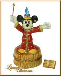 Mickey Mouse Band Leader Limoges Box www.LimogesBoxCollector.com