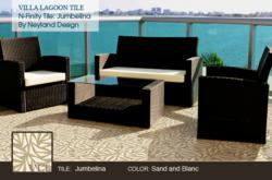 Villa Lagoon Tile's newest collection, N-Finity Tiles by Neyland Design. Jumbelina shown here.
