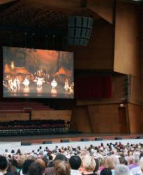 An image of Lighthouse VideoBlades LED Video at Millennium Park's Paris Opera Ballet Simulcast