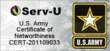 Serv-U FTP Server and FTP Voyager FTP Voyager both hold a U.S. Army Certificate of Networthiness.