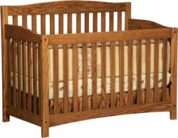 Sturdy wood slats and a rich wood finish accent the Monterey Convertible Crib.