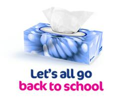 Let's All Go Back To School with White Cloud Facial Tissue
