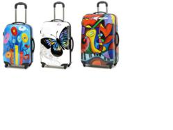 prints on luggage