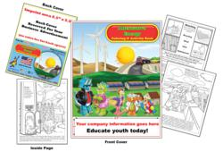 Imprintable coloring book to educate children and youth on alternative energy