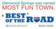 Glenwood Springs is listed in the 2013 Rand McNally Road Atlas as America's Most Fun Town