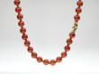 Vivid orange Hessonite beads