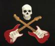 Embroidered Skull and Stratocasters - Crooked Brook Custom Embroidery